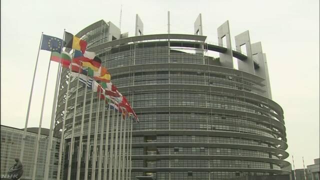 ヨーロッパ議会選 EU支持派 過半数割れか 議会難航も