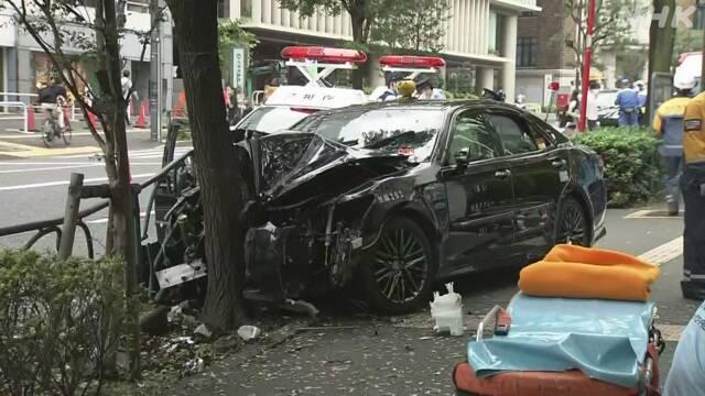 【悲報】歩道にタクシー突っ込む 歩行者1人死亡、運転手意識不明の重体、4人けが【東京・千代田区】