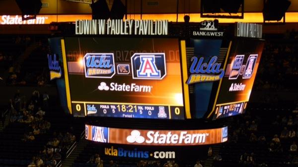 UCLAの体育館「ポーリー・パビリオン」。ここで行われた説明会で横山は真っ先に手を挙げ、その場でマネージャーに採用された(写真:横山匡)