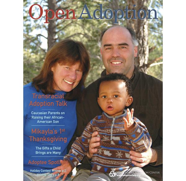 IACが発行する情報誌『Open Adoption』。IACは創設時からオープン・アダプションを提唱している。