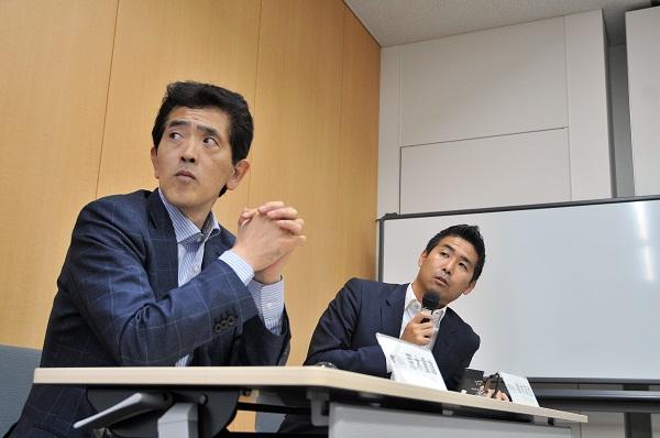 SBAのセミナーでは、鈴木友也氏とともに日米の野球ビジネスを深く掘り下げた(写真提供:SBA)