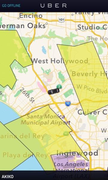 地図上にポツンと表示される1台の車。これが、私です