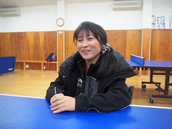 平野真理子の娘・美宇は、14歳の時に出場した2014年アジア大会卓球団体で銀メダルを獲得。真理子は筑波大学3年時に関東大会で優勝している(撮影:川内イオ)