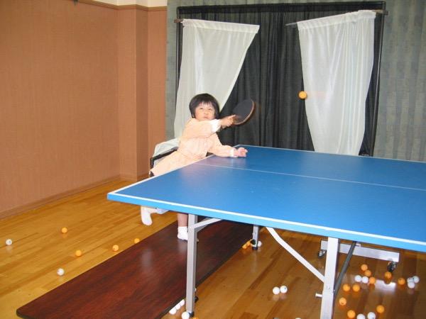卓球を始めた3歳の美宇