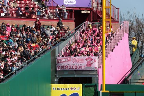 リーズナブルに観戦できる女子¥2000シート。女子だけの空間で思うままに楽しめる