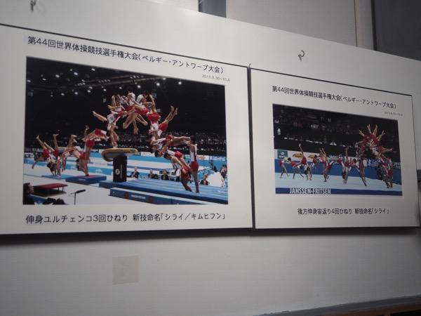2013年世界選手権では写真の二つの技を含め、3つのオリジナル技青披露した
