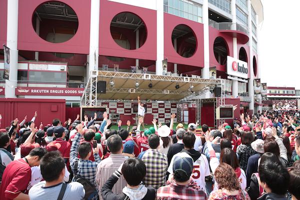 「楽天Koboスタジアム宮城」では野球観戦だけでなく近隣でイベントも開催。野球だけではない楽しみの提供にも積極的だ