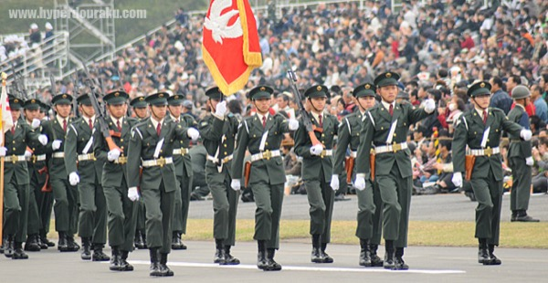 陸上自衛隊少年工科学校の観閲行進