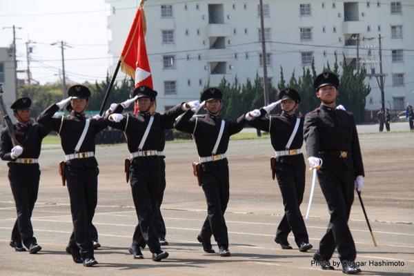 陸上自衛隊高等工科学校の観閲行進