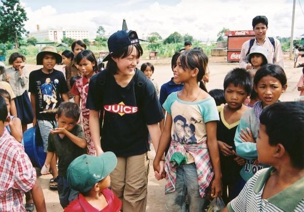 高校時代、カンボジアにて
