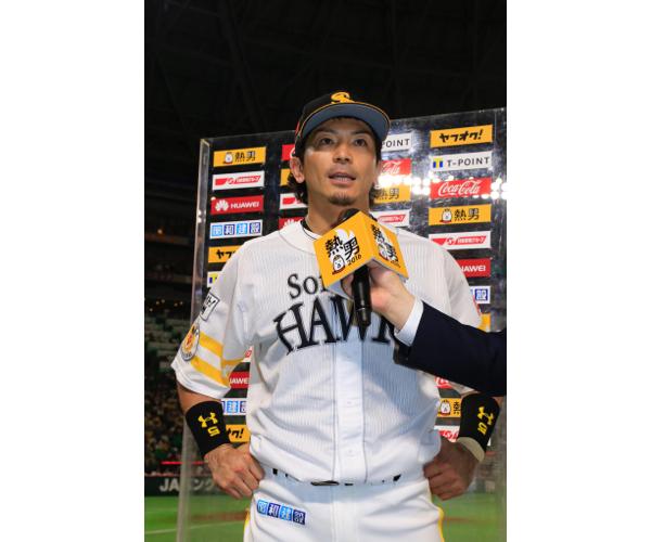 本塁打を打つたび、「熱男(あつお)」と絶叫する松田宣浩はテレビ映えする選手だ