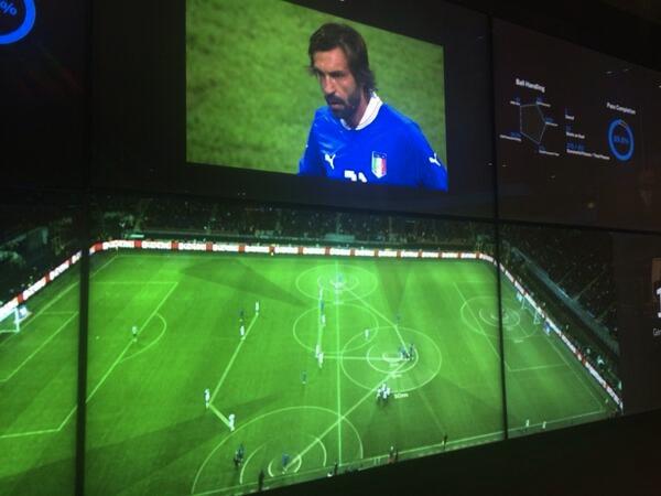 SAP社が開発したサッカー分析システム『マッチ・インサイト』。ブラジルW杯では、優勝国のドイツが使用していた(写真:馬場氏提供)