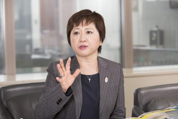工藤陽子、新日本有限責任監査法人の『WABNメンタリングプログラム』担当者。女性アスリート・ビジネス・ネットワークの日本エリア代表でもある。(写真:福田俊介)